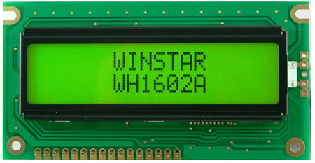 Display Winstar WH1602A-YYH-ET LCD Caracteres 16x2