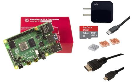 Kit Raspberry Pi 4 B 2gb + Fuente + HDMI + Mem 64gb + Disip