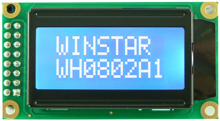 Display Winstar WH0802A-TMI-ST LCD Caracteres 8x2