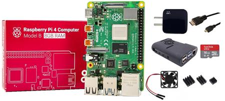 Kit Raspberry Pi 4 B 8gb Original + Fuente + Gabinete + Cooler + HDMI + Mem 16gb + Disip