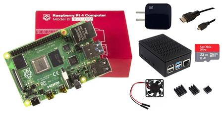 Kit Raspberry Pi 4 B 4gb Original + Fuente + Gabinete + Cooler + HDMI + Mem 32gb + Disip