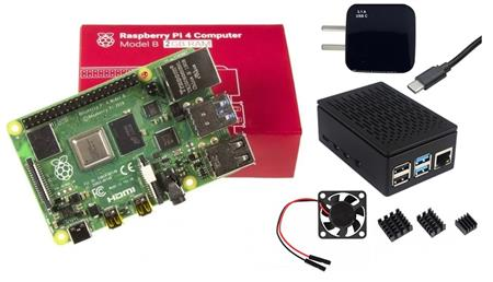Kit Raspberry Pi 4 B 2gb Original + Fuente + Gabinete + Cooler + Disip