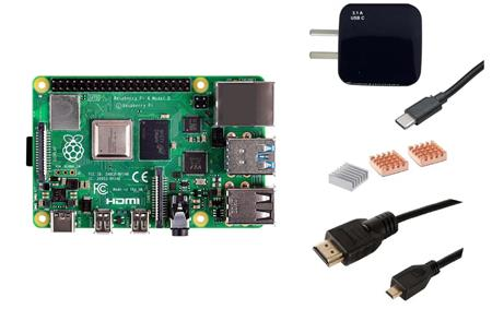Kit Raspberry Pi 4 B 8gb Orig + Fuente 3A + Cable HDMI + Disipadores