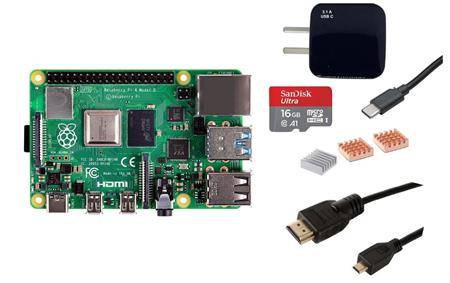 Kit Raspberry Pi 4 B 8gb Original + Fuente + HDMI + Mem 16gb + Disip