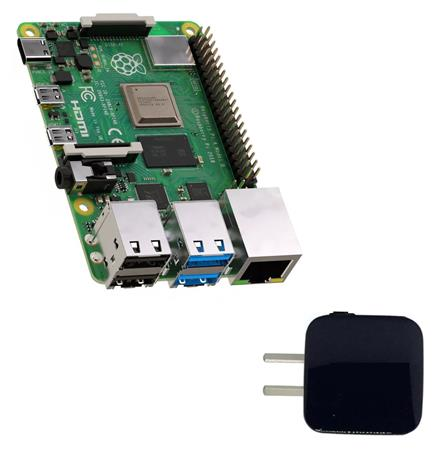 Kit Raspberry Pi 4 4Gb Element14 Uk + Fuente 3a Usb C